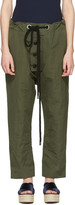 Marni Green Linen Drawstring Trousers