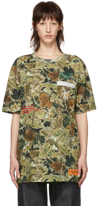 Heron Preston Green Carhartt Edition Camo T-Shirt