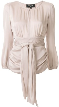 Paule Ka Keyhole Collar Ruched Detail Blouse