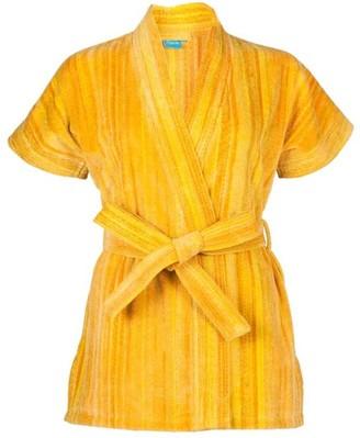 Elaiva Yellow Shadows Beach Kimono