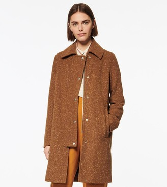 Andrew Marc Shiloh Tweed Wool Car Coat