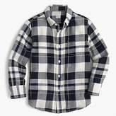 J.Crew Kids' lightweight flannel shirt in navy plaid