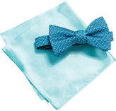 Alfani Blue Bow Tie and Pocket Square Set, Created for Macy's
