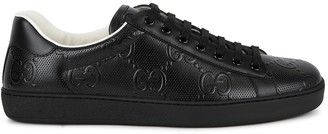 Gucci New Ace logo-embossed leather sneakers