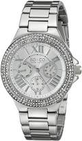 SO & CO New York Women's 5019.1 Madison Quartz Day and Date Crystal Bezel Watch