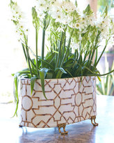 Scalamandre Maison by Port 68 Baldwin White Oval Planter