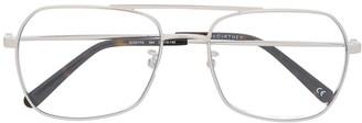 Stella Mccartney Eyewear Square-Frame Aviator Glasses