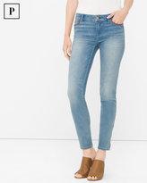 White House Black Market Petite Leather Trim Skimmer Jeans