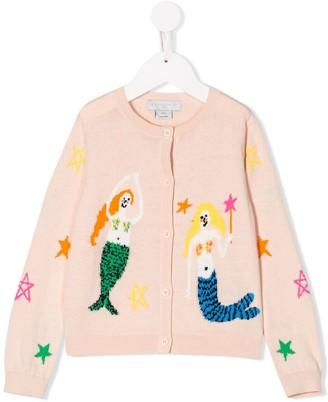 Stella McCartney Mermaid Intarsia Cardigan