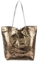 Carlos Falchi Metallic Embossed Tote