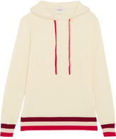 Madeleine Thompson Dalton Striped Cashmere Hooded Top - Ivory