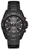 Michael Kors Jetmaster Black Carbon Fiber & Blackened Stainless Steel Chronograph Bracelet Watch