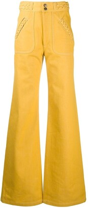 Marc Jacobs Braided Detail Wide-Leg Trousers