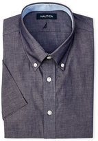 Nautica Navy Short Sleeve Dress Shirt