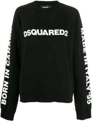 DSQUARED2 logo print oversized sweatshirt