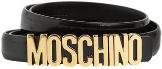 Moschino 2cm Logo Leather Belt