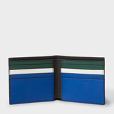 Paul Smith Men's Blue And Green Interior Leather Billfold Wallet