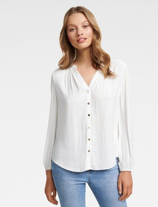 Forever New Cassidy Petite Shirt - Porcelain - 10