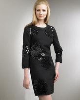 Embellished Flannel Dress