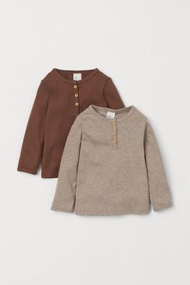 H&M 2-pack Cotton Henley Shirts
