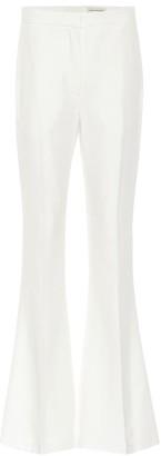 Alexander McQueen Mid-rise flared crApe pants