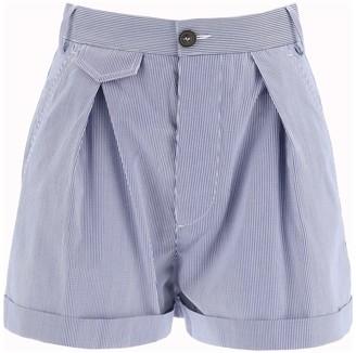 DSQUARED2 VICHY SHORTS 40 Blue, White Cotton