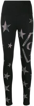 Philipp Plein Star Print Leggings