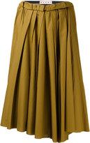 Marni gathered midi skirt
