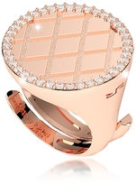 Rebecca Melrose Rose Gold Over Bronze Ring w/Cubic Zirconia