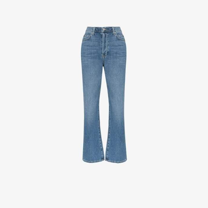 Eve Denim Juliette high-waisted straight leg jeans