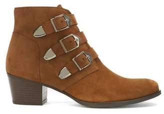 Mint Velvet Lee Brown Suede Buckled Boots
