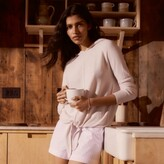 Thumbnail for your product : The White Company Tie-Front Stitch-Detail Hoodie , Petal Pink, S