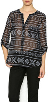 BB Dakota Barclay Aztec Blouse