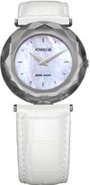 Jowissa Women's J1.001.M Safira 99 Colored Mother-of-Pearl Dial White Leather Watch