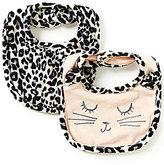 Jessica Simpson Baby Girls Animal-Print Bib 2-Pack