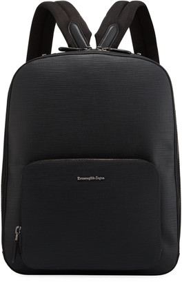 Ermenegildo Zegna Men's Stuoia Leather Backpack