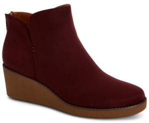 Style&Co. Style & Co Jarodd Crepe Wedge Booties, Created for Macy's Women's Shoes