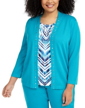 Alfred Dunner Plus Size Easy Street Layered-Look Sweater