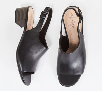 Clarks Collection Leather Heeled Sandals- Elisa Kristie