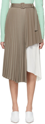 ANDERSSON BELL Beige Melanie Double Layered Skirt