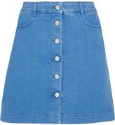 Stella McCartney Stretch-denim Mini Skirt - Blue