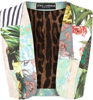Dolce & Gabbana Patchwork Cropped Gilet