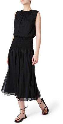 David Lawrence Macie Silk Gathered Dress