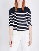 Mo&Co. Striped knitted jumper