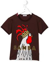 Dolce & Gabbana rooster T-shirt - kids - Cotton/Viscose - 12 yrs