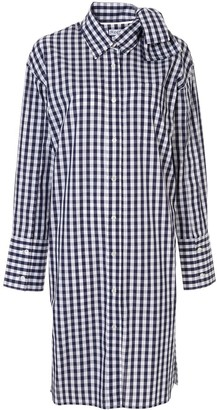 J.W.Anderson Check Bow Collar Shirt Dress