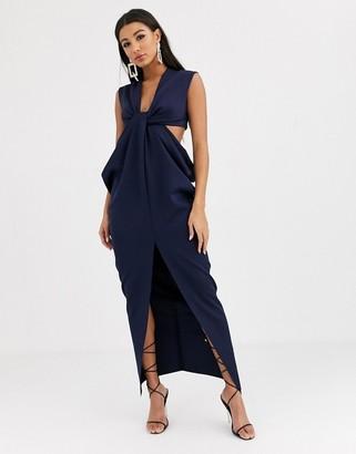 Asos DESIGN twist and drape cut out maxi dress