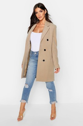 boohoo Double Breasted Coat