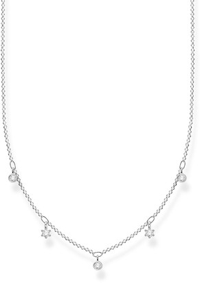 Thomas Sabo Sterling Silver and Cubic Zirconia Charm Necklace