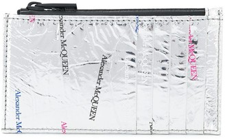 Alexander McQueen All-Over Logo Print Cardholder